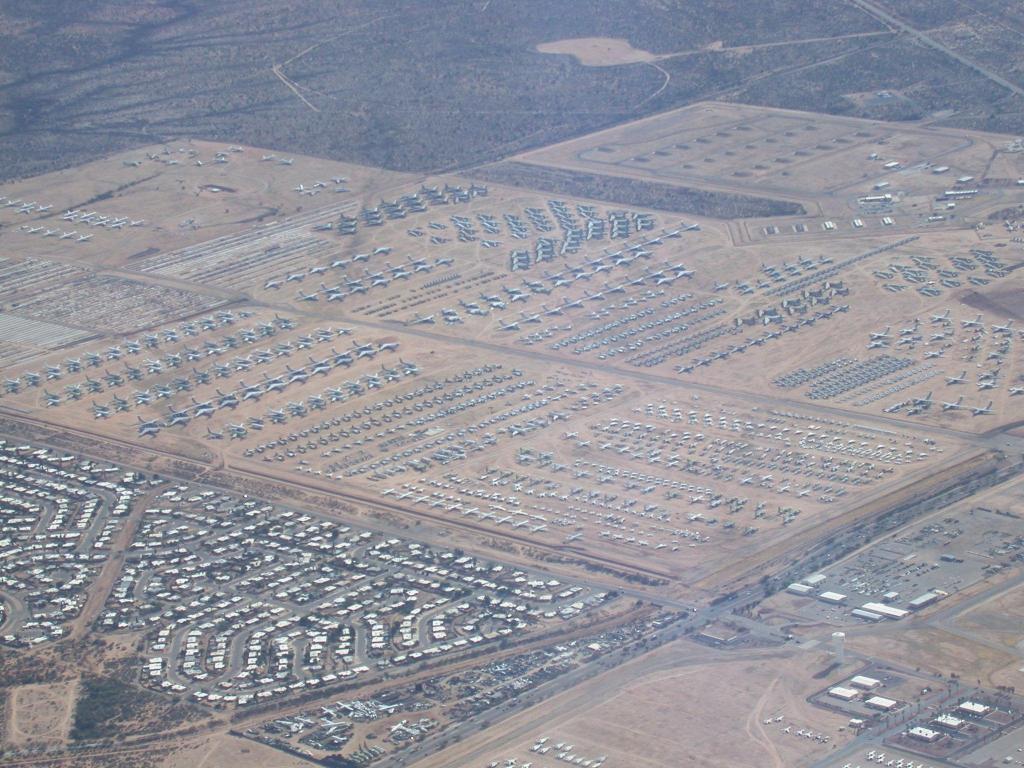 Cimetiere Avion Usa images du monde insolites, spectaculaires [avertissement page 1