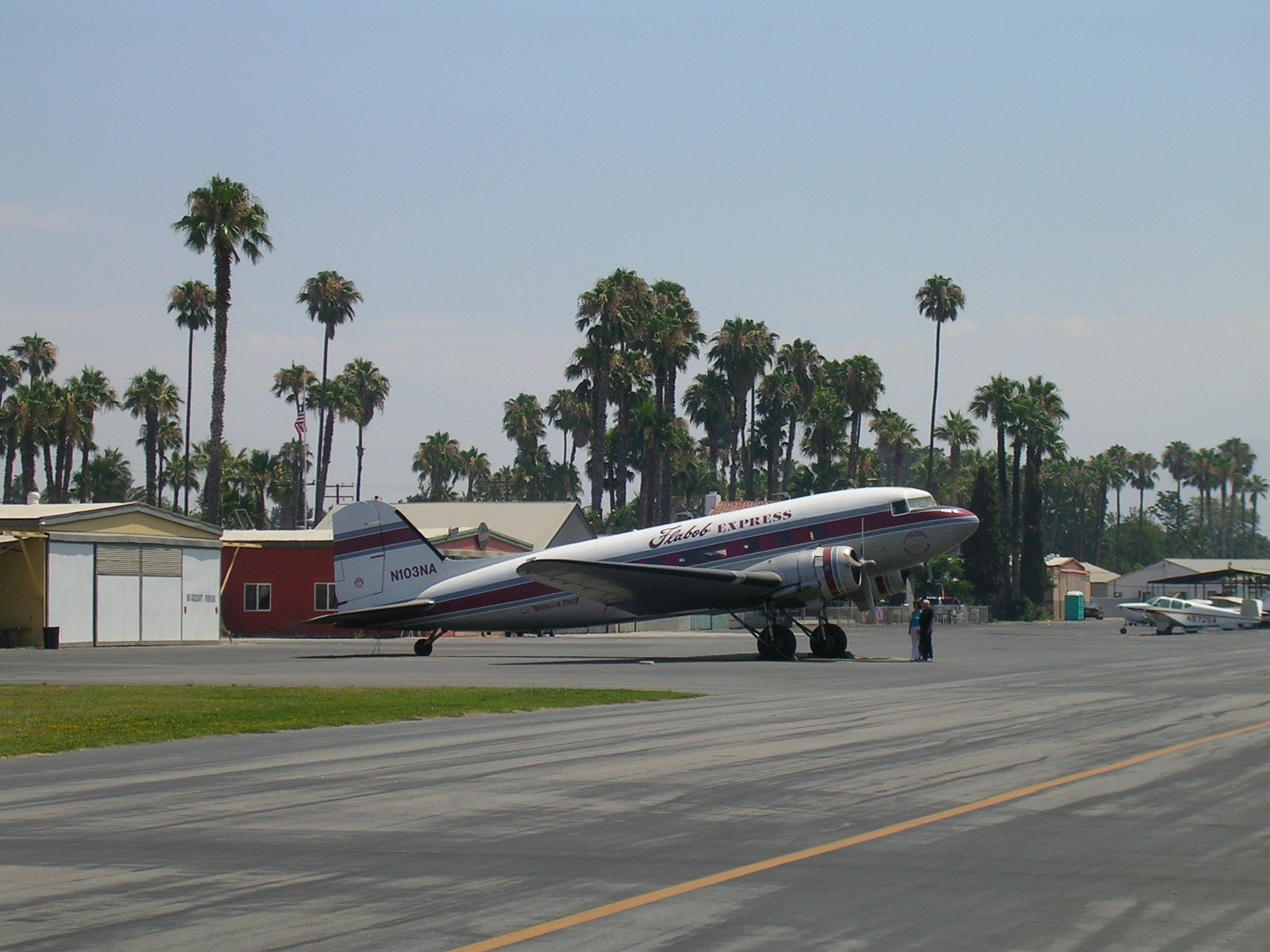 Cool old transport (DC-3?) at Flabob