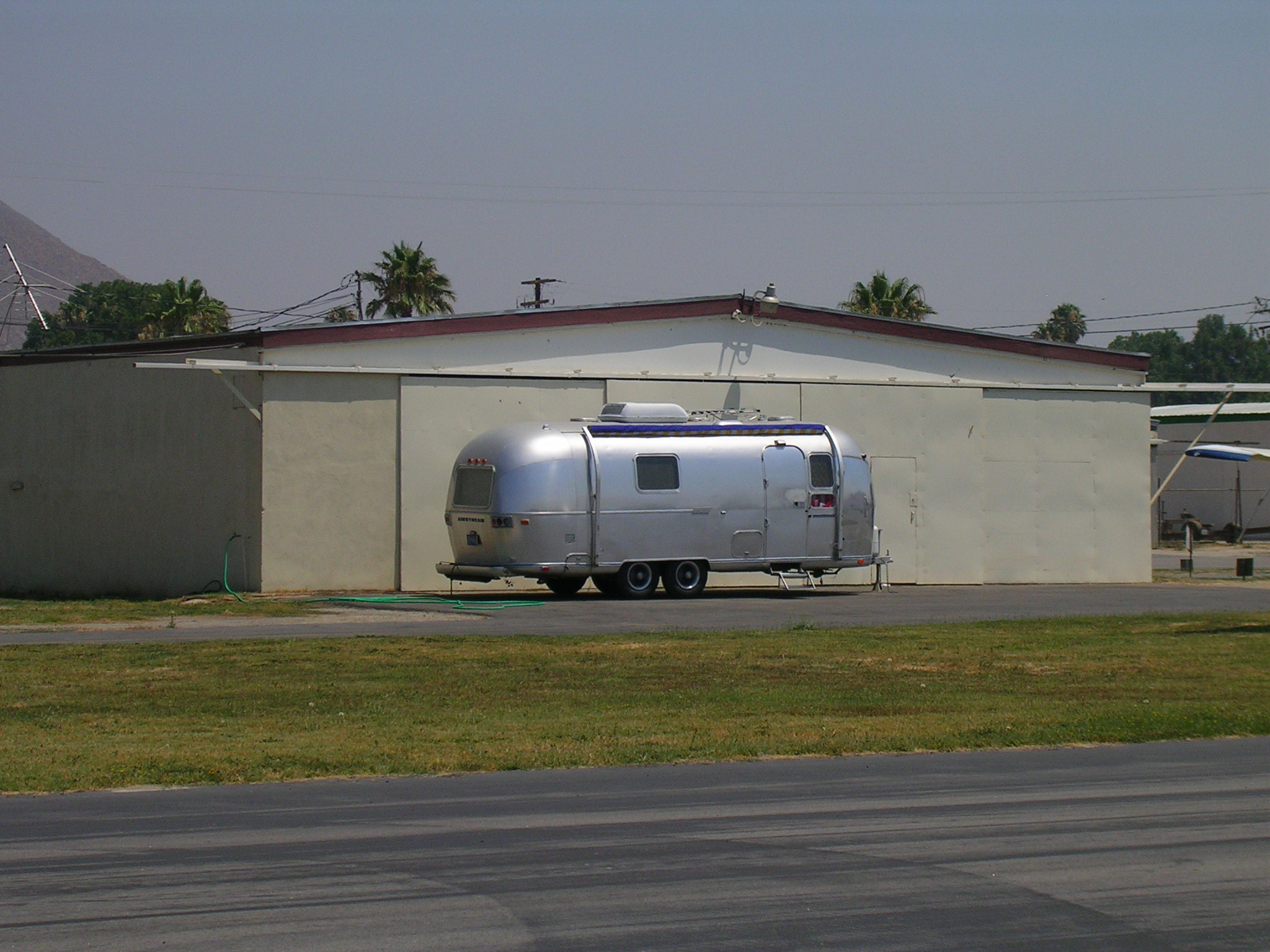 An airstream trailer at Flabob