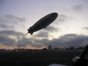 Goodyear Blimp at SMO