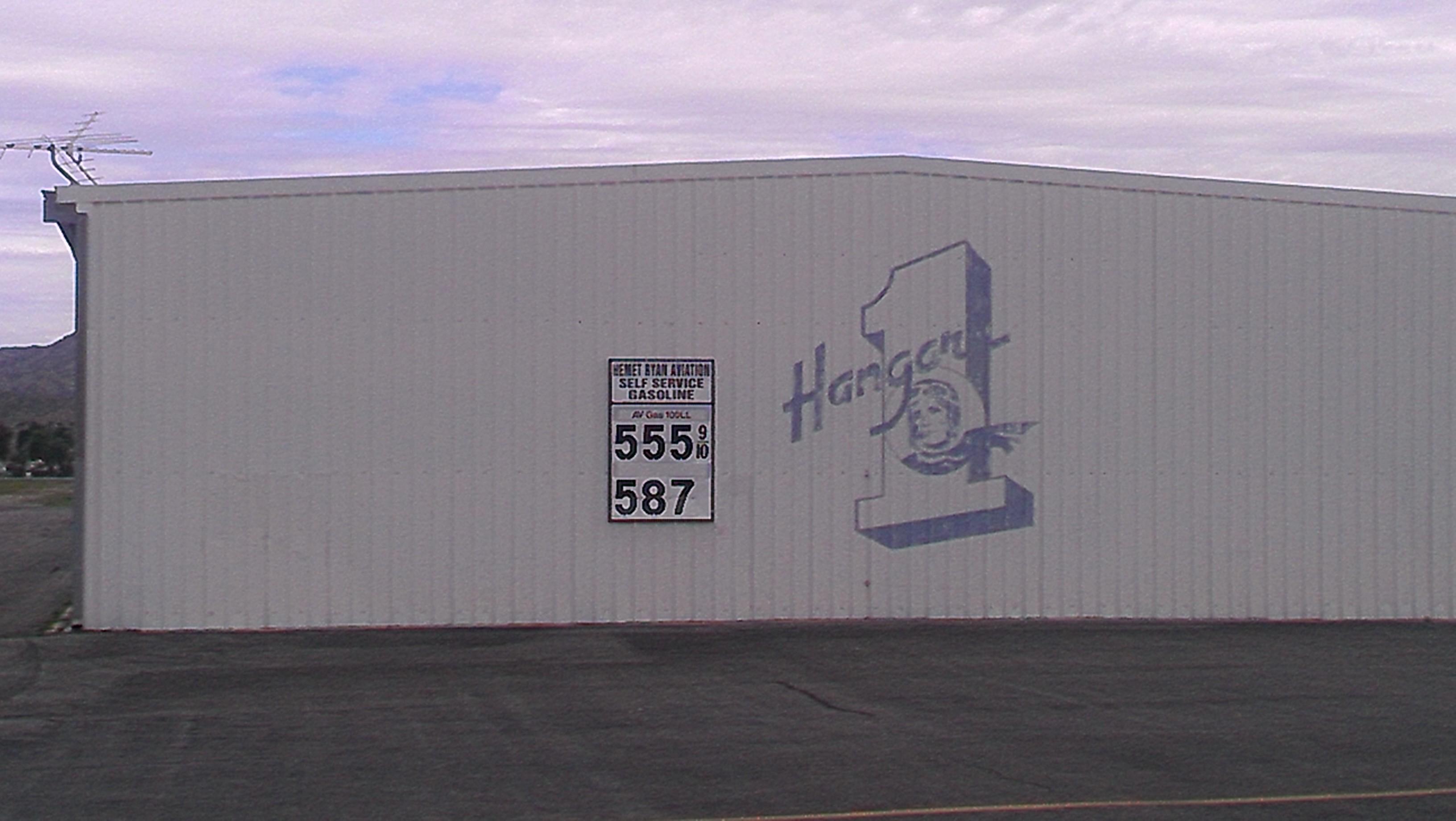 An inviting hangar (and reasonable gas)